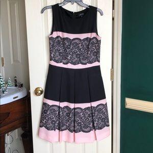 Tahari Black and pink dress